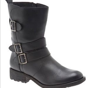 CARLI LEATHER MOTO ANKLE BOOT wide width